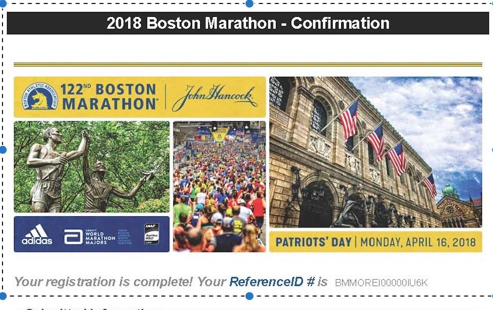 ボストンマラソン登録申し込み